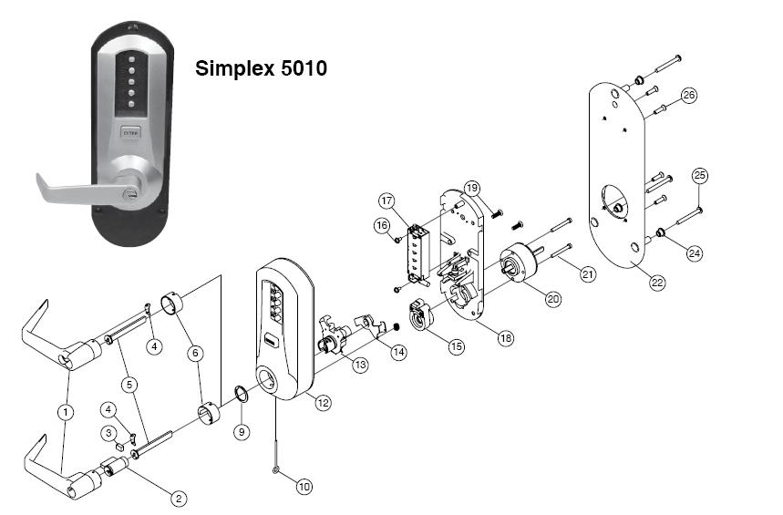 kaba simplex l1000 series parts