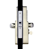 CL465-SS Narrow Stile Mechanical Pushbutton Lock W/Passage Feature, Stainless Steel, Cylinder Incl