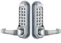 CL515BBSS Lever set, Latchbolt, Double Sided w/ Passage Mode, Stainless Steel 2 3/4 Backset