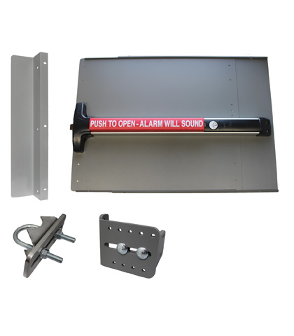 ED43 Edge Panic Shield Value Kit Powder Coated Silver With Detex V-40xEBxW