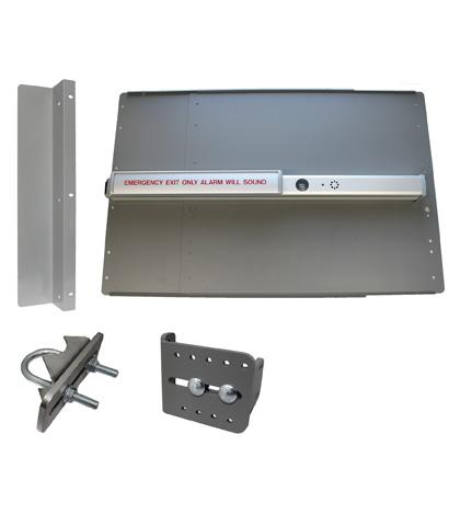 ED45 Edge Panic Shield Value Kit  Powder Coated Silver With  PB2500 Alarm Bar