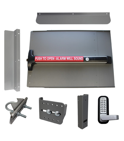 ED63 Edge Panic Shield Security Kit With Detex V-40xEBxW
