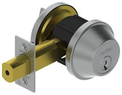 Hagar 3215-US32D-SCC-KD Grade 2 Single Cylinder Deadbolt Satin Stainless Keyed Different 2 3/4 Backs