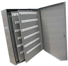 556-RE-60 60 Hooks Key Cabinet Removable Panels, With Handle.Furnished W/ Labels and Shield