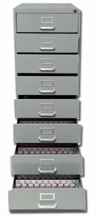 1700 Key Capacity Eight Drawer Cabinet Complete Two Tag System W/ All Accessories