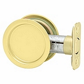 3343 Kwikset 334 3 Polished Brass Rd Pocket Door Lock x Passage