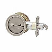 33515A Kwikset 335 15A Antique Nickel Rd Pocket Door Lock x Privacy