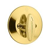 Kwikset Deadbolt x T-Turn One Side; x Less Latch x RC Strike Polished Brass