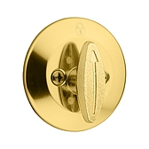 Kwikset 663 3 Polished Brass RCL 85303 Deadbolt x Turn One Side x RC Latch x FL RC Str