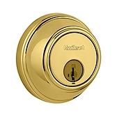8163SMTRCALRCS Kwikset 816 3 Polished Brass SMT RCAL RCS Smt Key  Control Deadbolt