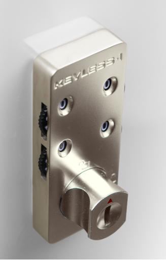 Keyless1 Locker Cabinet Lock  4 Digit Code Key Override