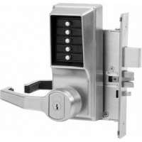 Simplex L8148B26D Mortise Lever W/Deadbolt LH-W/Key Bypass Best/Falcon Core Included Satin Chrome