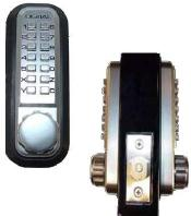 Lockey 2210DC Mechanical Keyless Deadbolt Keypad Both Sides Adj. Backset