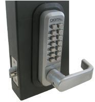 Lockey 2835 Mechanical Keyless Lever Handle W/ Pass Spring Latch Adjustable Backset