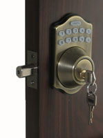 E910 Electronic Keyless Deadbolt Lock / 6-User Capability / 1-1 Time User With Remote