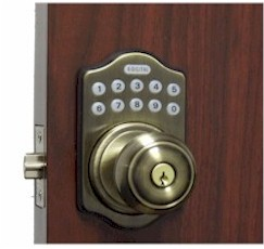 E930 Electronic Keyless Knob Lock / 6-User Capability / 1-1 Time User With Remote