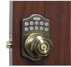 E930-AB Electronic Knob Lock / 6-User Capability / 1-1 Time User