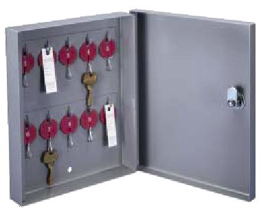 C-10 10 Hooks Surface Mounted  One Tag System All-Welded Steel  Lund Key Cabinet