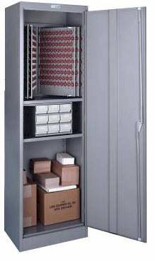 Lund Utility Combo Floor Cabinet For Keys 1200 Key Capacity 1 Key Tag System BHMA/ANSI Approved
