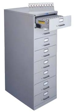 Lund 8 Drawer File Key Cabinet 2000 Key Capacity Two Tag System  Expandable BHMA/ANSI Approved