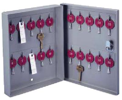 C-20 20 Hooks Surface Mounted  One Tag SystemAll-Welded Steel  Lund Key Cabinet