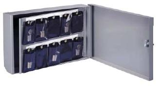 Lund Core Lock Storage Cabinets 20 Capacity Vinyl Pouches Included