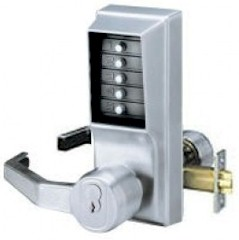 Simplex LL1041S Pushbutton Lock LH-W/Key Bypass, Passage Schlage Core Sold Separately