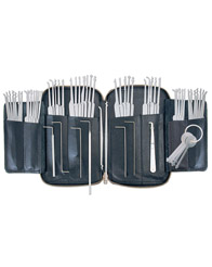 684-0470 PRO PKX-62   PICK SET WITH 62 PIECES IN A ZIPPERED LEATHER CASE