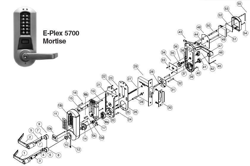eplex 5766 parts  assured lock keyless  u0026 locker lock store
