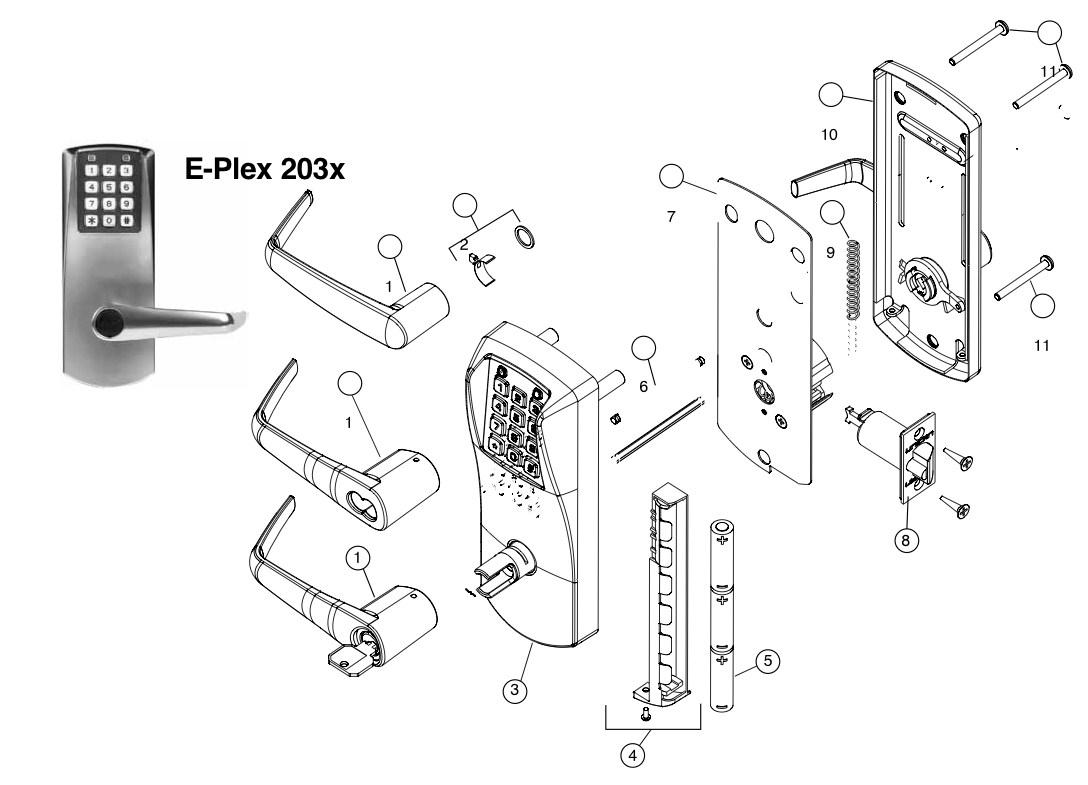 Eplex 2000 Series Parts Assured Lock Keyless Amp Locker