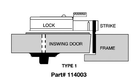 CDX10STR1 Kaba Mas High Security Lock X #1 Strike