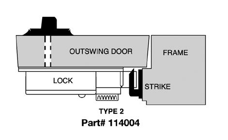 CDX10STR2 Kaba Mas High Security Lock X #2 Strike