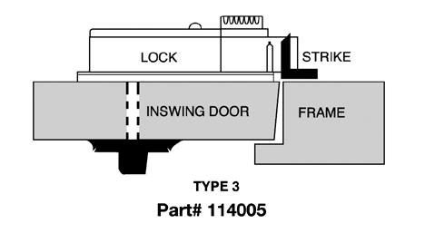 CDX10STR3 Kaba Mas High Security Lock X #3 Strike