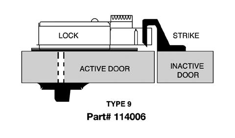 CDX10STR9 Kaba Mas High Security Lock X #9 Strike