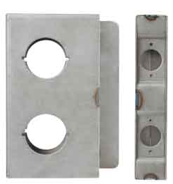 K-BXDBL234-SS Stainless Steel Lock Box Double 2 3/4 B/S
