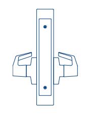 MR206 BFEF 605 PDQ GRD 1 MTS Lock DBL Dummy W/ Chassis F Series ESCH/ Boston Lever Bright Brass