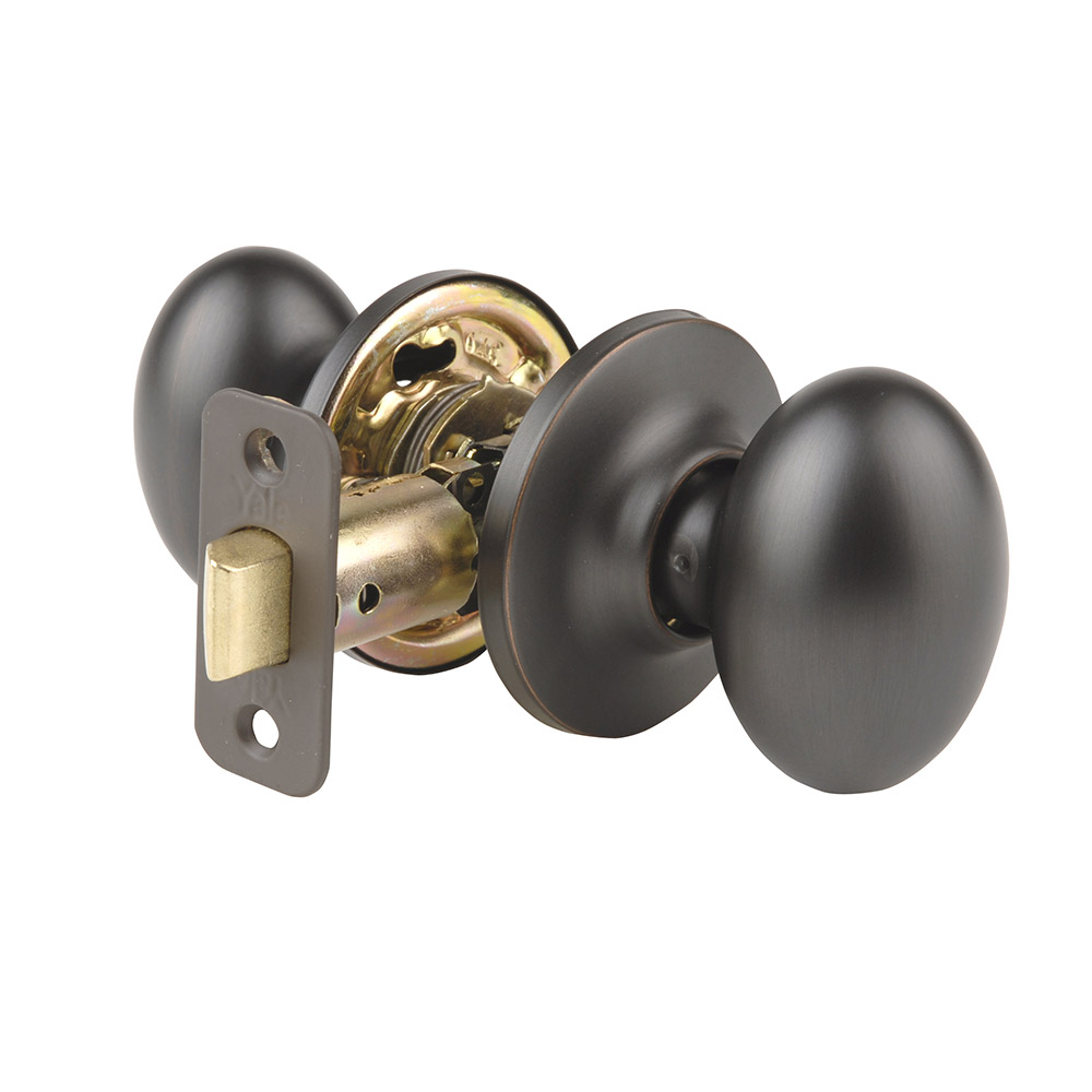 Yale Residential 100T10B Oil Rubbed Bronze Permanent NT Series Grade 2 Passage Knob x Adjustable Rad