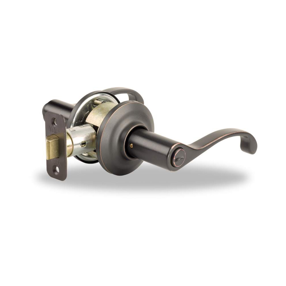 Yale Residential 21MC 10B Oil Rubbed Bronze Permanent YH Series Grade 2 Privacy Lever x Adjustable R