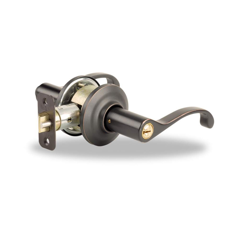 Yale Residential 71MC 10B Oil Rubbed Bronze Permanent YH Series Grade 2 Entry Lever x Adjustable Rad